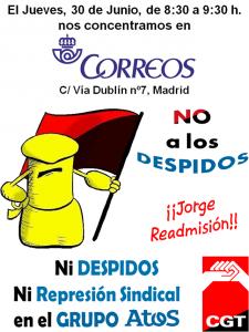 30-J Ni Despidos ni Represion Sindical Correos Pequeño
